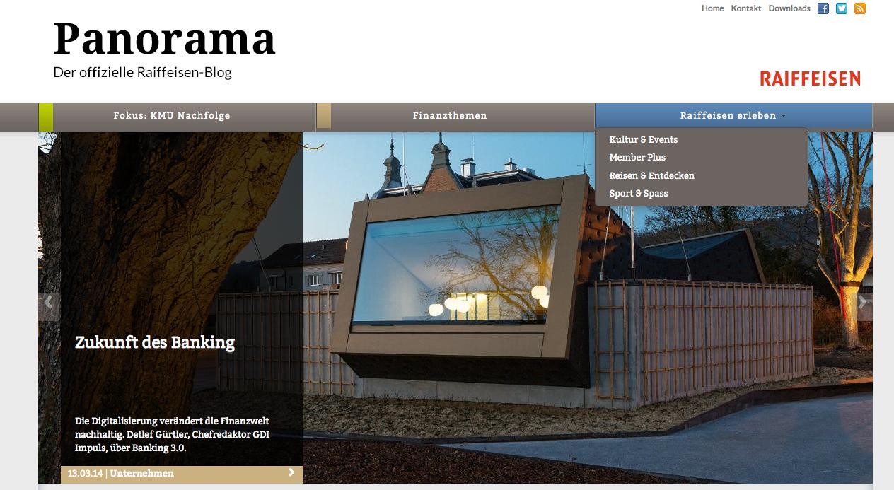 Panorama Magazin, der Raiffeisen Blog